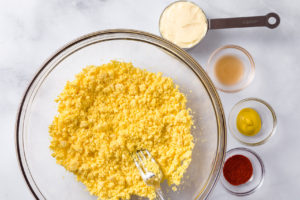 Ingredients for egg recipe