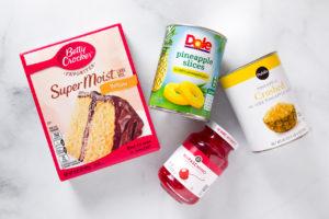 Pineapple cake ingredients