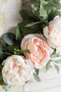 Peonies and eucalyptus