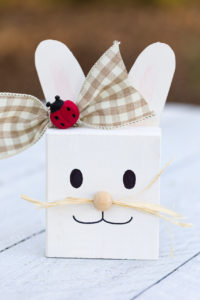 Easter wood crafts an adorable bunny with paper ears
