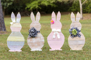 Wooden Easter Bunnies are the perfect Easter pallet woodcraft project