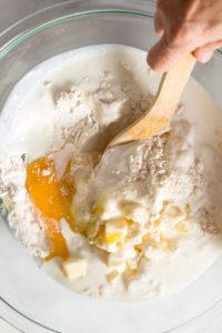 Mixing bread ingredients