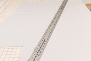 Ruler on the fabric bias