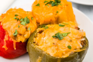 Stuffed peppers cooked in the Instant Pot