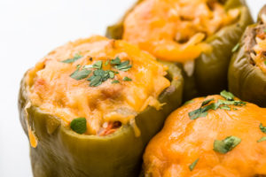 Peppers with cheese baked in the oven