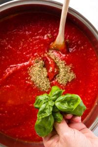 Add fresh basil