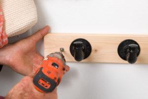 Installing wall hooks