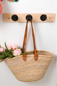The DIY coat hook with tote