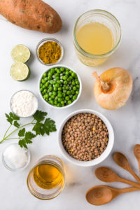 Lentil curry recipe ingredients