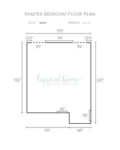 Master bedroom floor plan