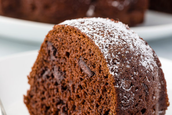 Homemade chocolate cake
