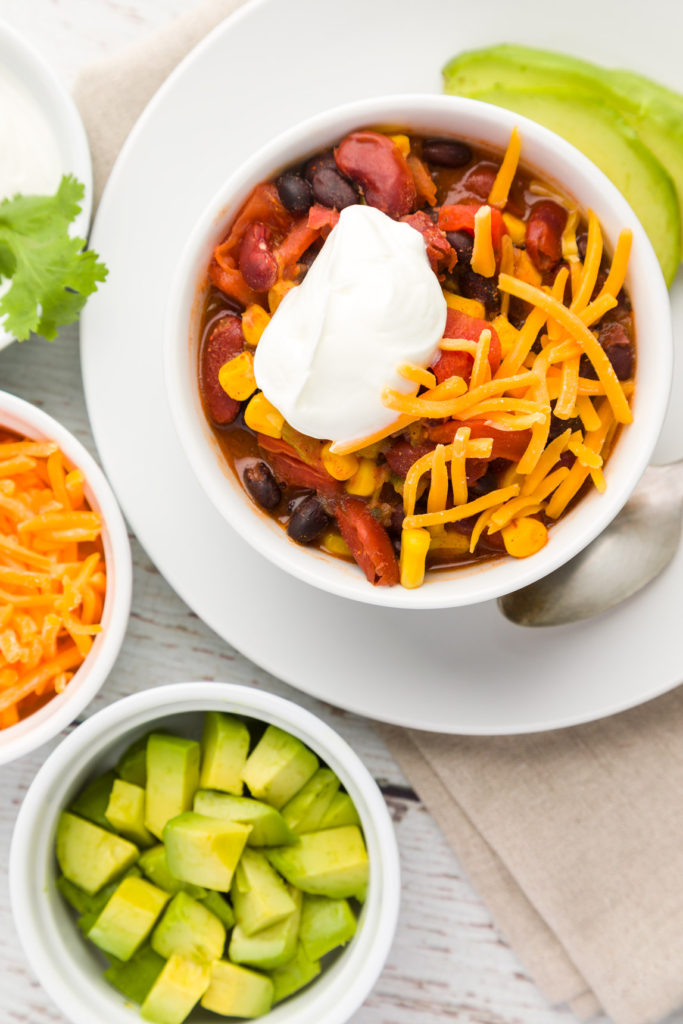 Easy Taco Soup is delicious and fast