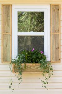 DIY Window Box and shutters