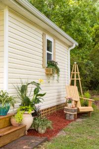 Studio garden area