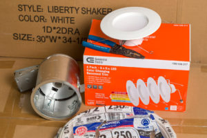 Supplies for recessed lighting