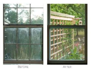 Window before and afterMaster bedroom window installed