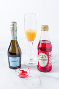 Ingredients for mimosa recipe
