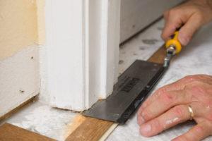 Undercutting door jamb