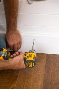 Installing DIY baseboards
