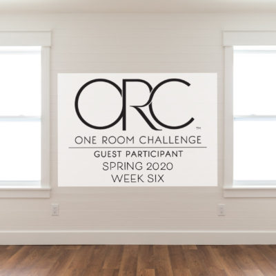 One Room Challenge Week 6
