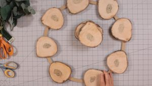 Deciding on placement of wood slices