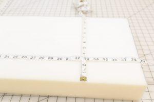 Measure your cushion foam