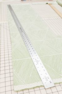 Mark a cutline for bias tape