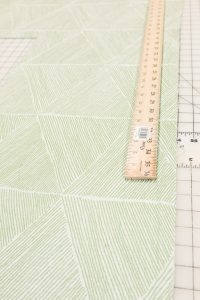 Use a yardstick to mark your bias tape cuts
