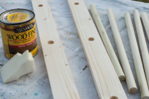 Easy blanket ladder ready to stain