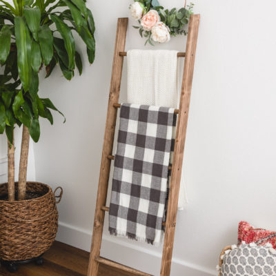 DIY Blanket Ladder – How To Build a Wooden Blanket Ladder