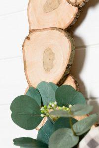 Natural live edge wood slice wreath