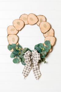 Wood Slices Wreath