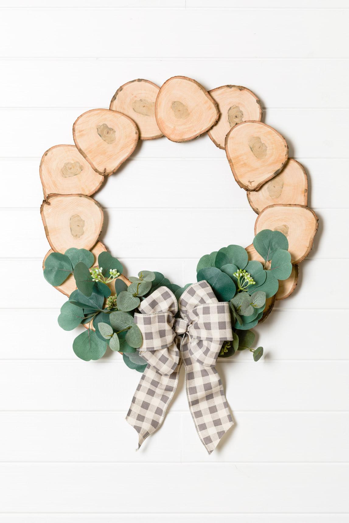Wood Slices Wreath