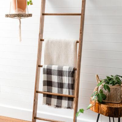 DIY Blanket Ladder – How To Build a Wooden Blanket Ladder