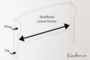 Wingback Headboard Parts