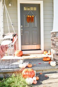 Boho Fall Decorated Front Porch