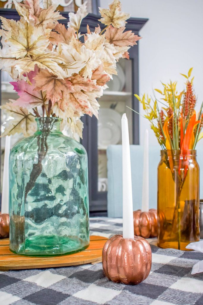 Fall Table Decorating with DIY Painted Pumpkins