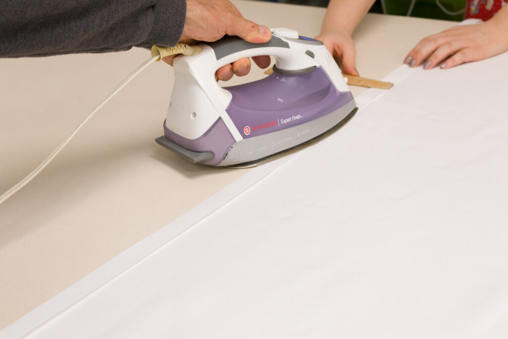 Ironing in the side hems