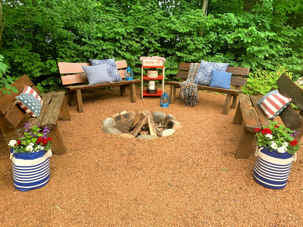 Cozy fire pit perfect outdoor space