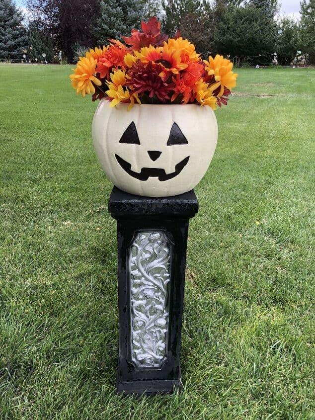 Pumpkin Flower Planter