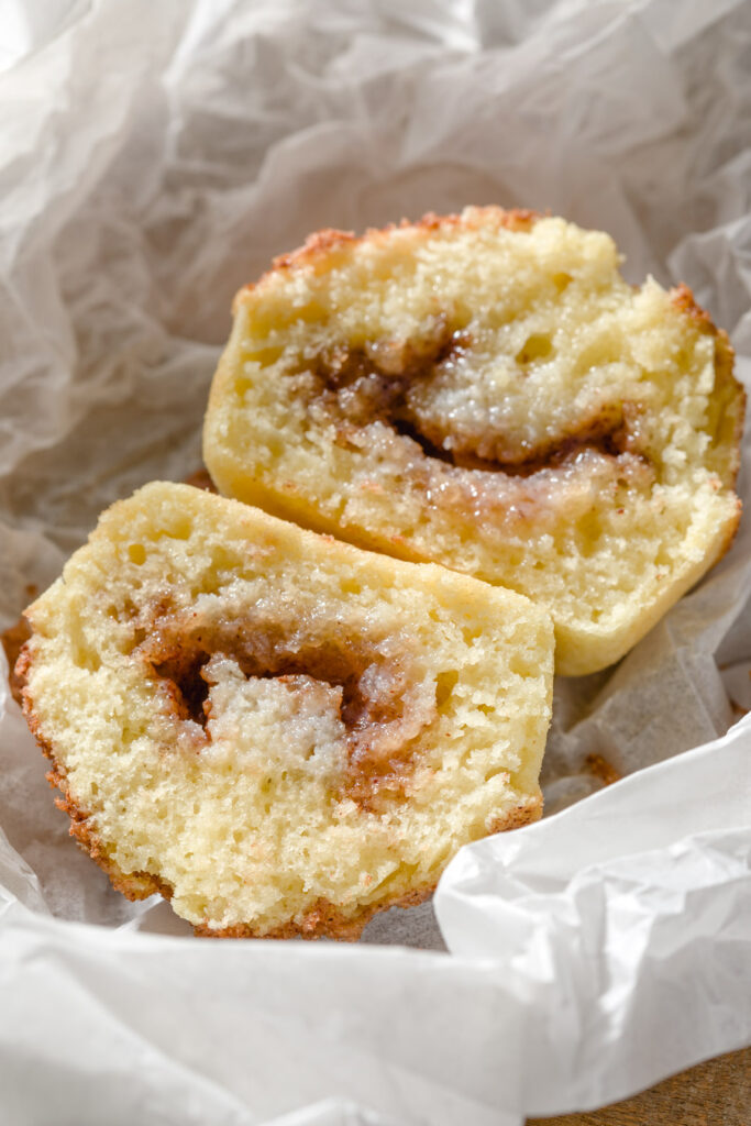 Butter melts into the cinnamon and sugar center