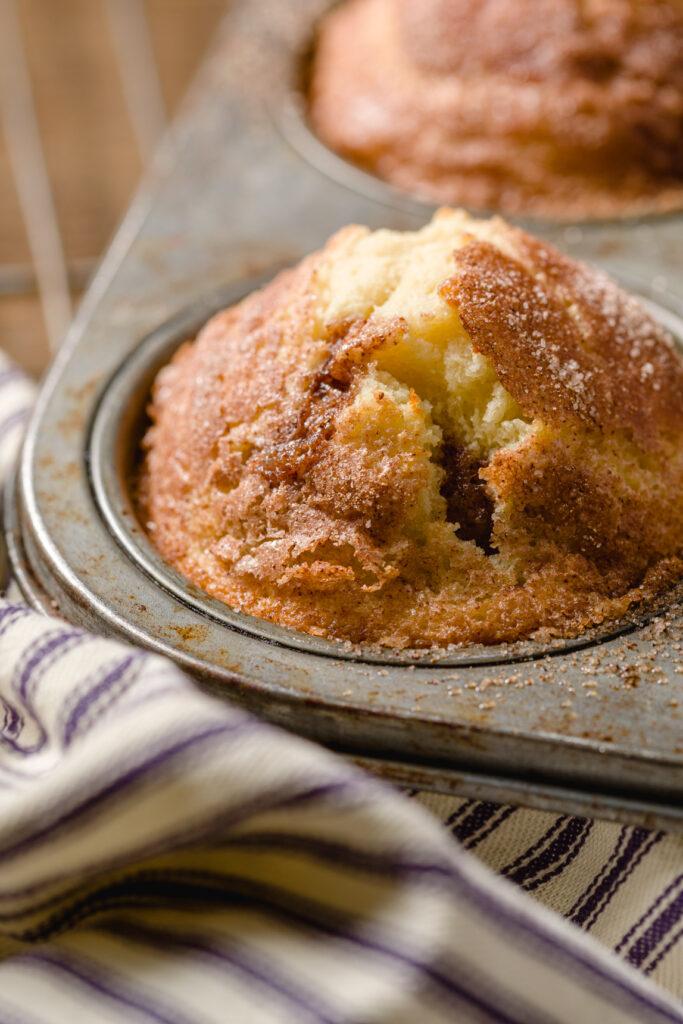 Freshly baked cinnamon muffins