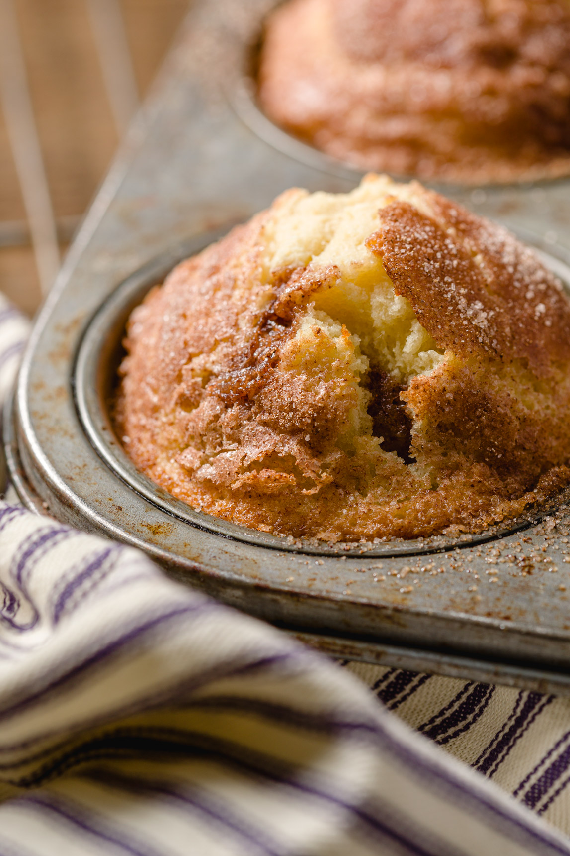 Fresh baked cinnamon muffins
