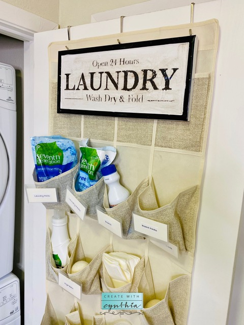 Laundry Closet Makeover on Create With Cynthia