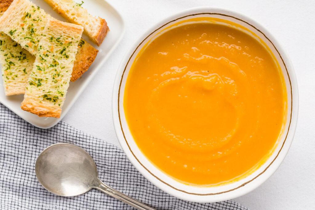 Soup before garnish