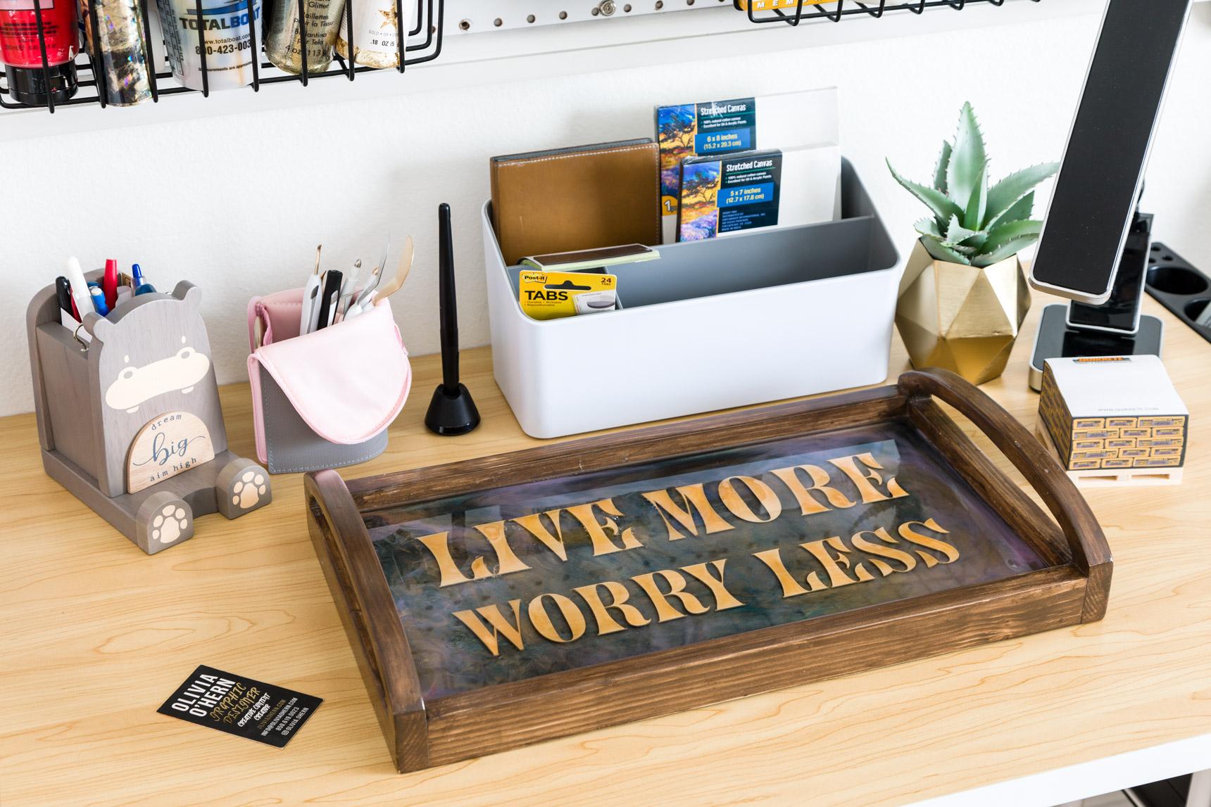 DIY Desk Tray