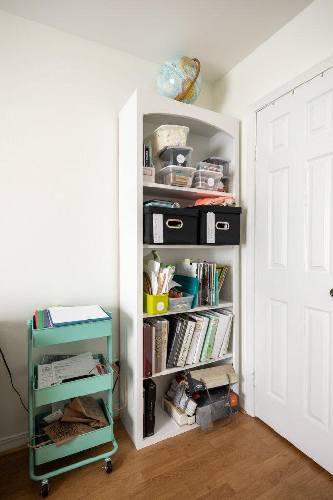Shelf before office organization