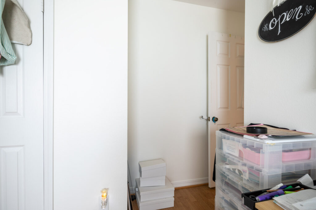 Wall space not being utilized for organization