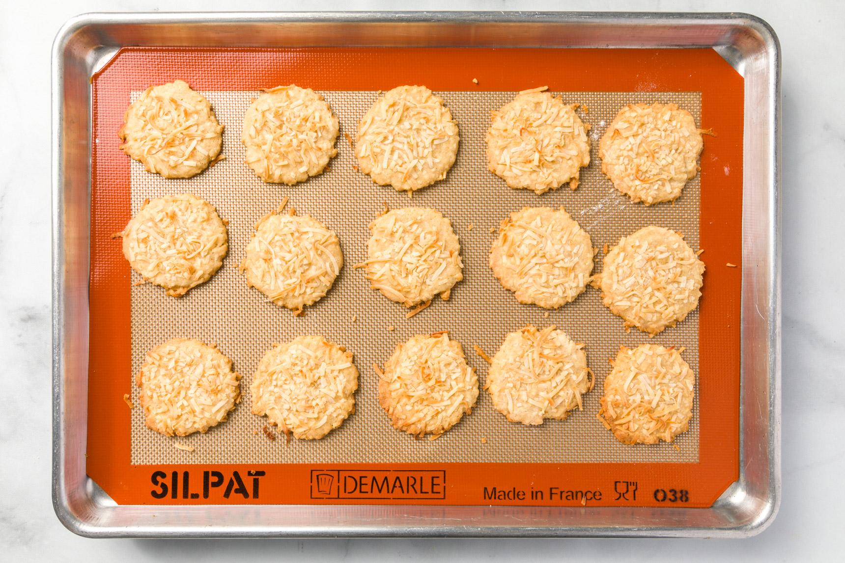 Shredded coconut cookies baked
