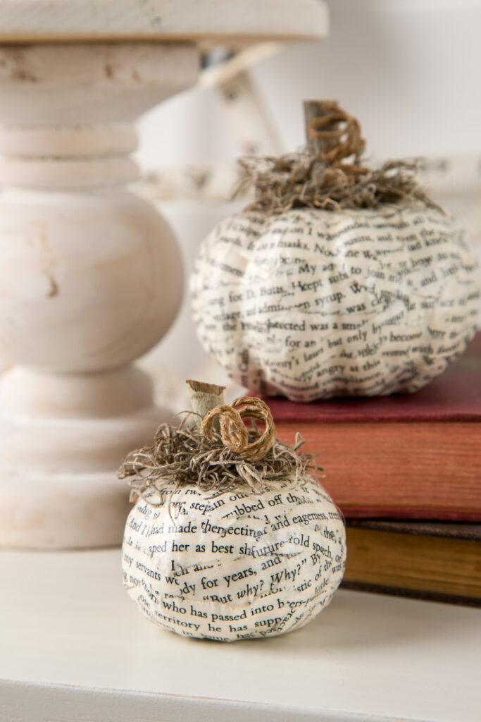 Adorable decoupaged pumpkins